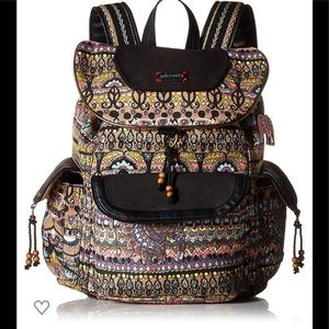 SakRoots Artist Taupe One World Backpack